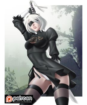 PATREON - 2B NieR Automata by IDarkShadowI