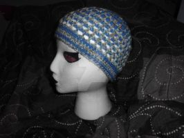 Blue and Multicolor Beanie by Ryuus-Wardrobe