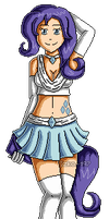 MLP: Humanized Rarity Pixelart by izka-197