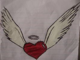 Heart with wings by AdrixCosta