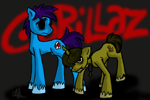 2D and Murdoc Ponies by Maygirl96