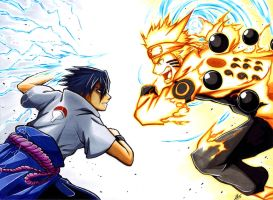 CommissionNaruto Vs Sasuke by Smudgeandfrank