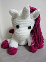 White and Pink  Amigurumi by Dragon620026