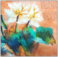 Chinese painting Lotus by GraceDoragon