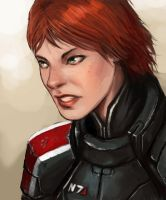 Commander Jane Shepard by FonteArt