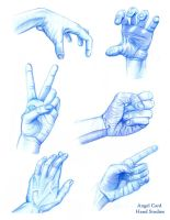 Hand Studies for Portfolio by ButterflyInDisguise