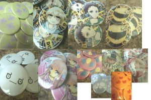 Completed buttons by Leefuu