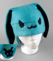 Blue Skull Bunny Hat by SewDesuNe
