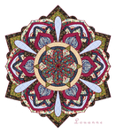Mandala Quilt by Louloucatmom