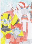 Family: Radar, Bee, Ratchet and Mixi by TsukinoNekoHime
