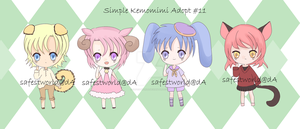 [CLOSE] Simply Kemomimi Adopt#11 by safestworld