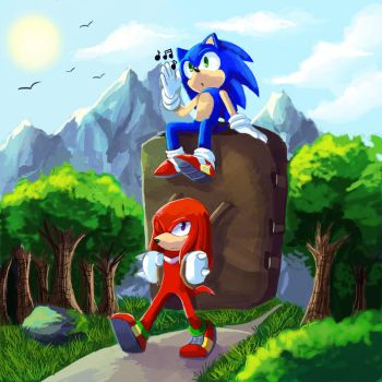 Are we there yet Knux? by chickenoverlord