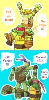 Raph lift his bros by RingingT