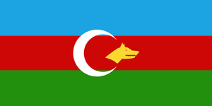 Alternate flag of Turkic Union by AY-Deezy