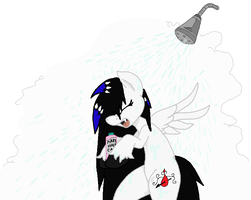 zerria ~ singing in the shower by Zoeysoftpaws