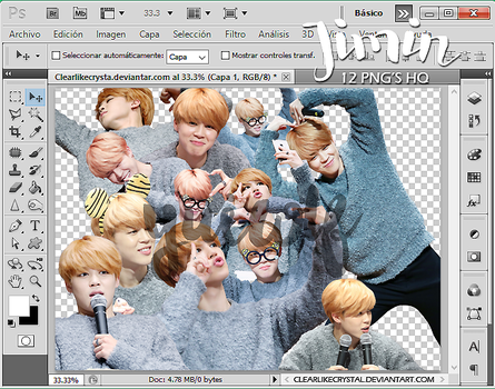 #017 Jimin | BTS | Pack Png by clearlikecrystal