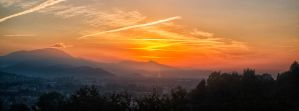 Sunrise in Bergamo by qwstarplayer