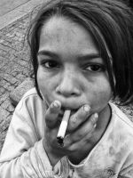 Little homeless girl 3 by BobRock99