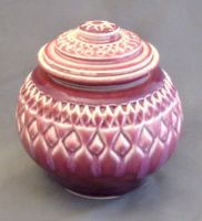 red carved jar by cl2007