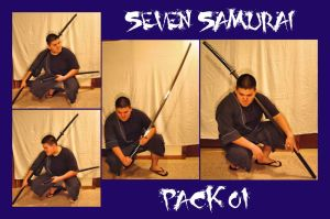 Seven Samurai Pack01 by M3-Productions