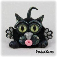 Polymer Clay Cat by KIMMIESCLAYKREATIONS