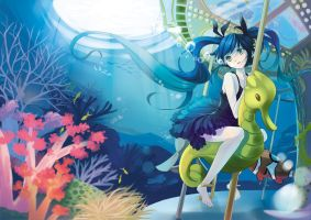 Miku, the Ocean Princess by AmberClover