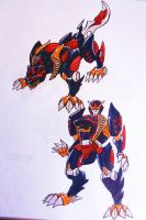 PR DOUBLE DYNASTY step1: kung-fu tigerzord by kishiaku