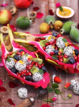Fruity Goodness - Dragon Fruit Bowl by theresahelmer
