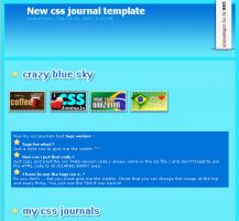 Crazy blue sky - css journal by mj-coffeeholick