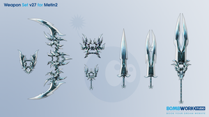 Weapons Set v27 for Metin2 by BombWork-Studio