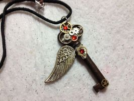 Steampunk key pendant by AestheticSaturn