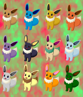 Eevee Medley by pichu90