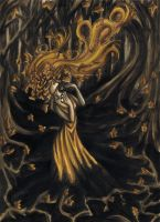 Golden hell by sombrefeline