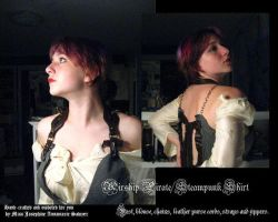 Airship Pirate: Steampunk Top by steampunk-babydoll