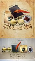 Bookmarks for Harry Potter series by BAKUNOYAMI