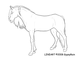 horse lineart -update- by GypsyRain
