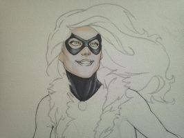 Black Cat - Sketch Idea - Colorification, BEGIN! by CrazyBluePsychopath