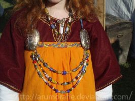 viking dress close-up by Arumorahe