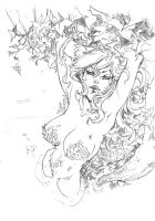 Poison Ivy pencil -private commission by tinavalentino80