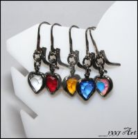 Gothic Romance Earrings by 1337-Art