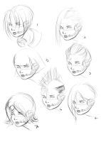 Hair Sketches by theblacklotus92