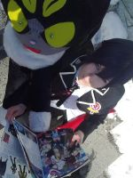 Blue Exorcist - Rin and Kuro are reading about ANE by K-I-M-I