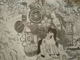 Random art II Collage: pencil drawing by AroraNoelleSNSD-23