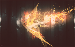Flame Fish Wallpaper by guw