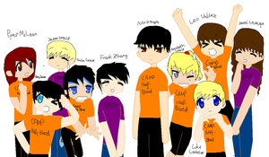 The 10 main demigods in the PJO and HOO series by Fallinginreverse1298