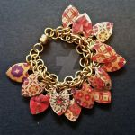 Golden Christmas Scalemaille Bracelet by Rosie-Periannath