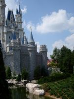 Cinderella's Castle Side View by WDWParksGal