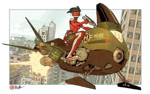 HaloGen - Hoverbike by AfuChan