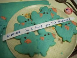 Mudkip Cookies by caitlin1288
