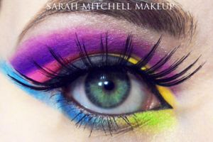 Colourful by sarahmitchellmakeup